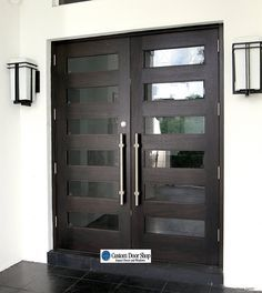 Amazing Front Doors Contemporary Mahogany Double Wood Doors With