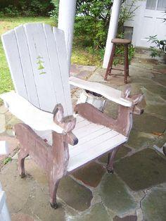handmade deer adirondack chair?