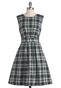 Too Much Fun Dress in Prairie Plaid, #ModCloth