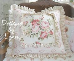 Image detail for -Pink Romantic Roses Cottage Charm Feather-Down Filled Pillow Designs ...