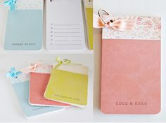 simple as that: Simple Notepads Featuring Stampin Up for Mother's Day!