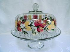 Cake dish  glass Cake dish covered cake dish cake dish with