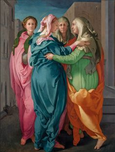 "Jacopo da Pontormo, ""Visitation"" oil on panel (photo by Antonio Quattrone, courtesy the Morgan Library & Museum) Catholic Renaissance art is well-known for its iconographical tropes, which is why scholarship tends to focus on [. Renaissance Kunst, Italian Renaissance, Michelangelo, Getty Museum, Italian Painters, Caravaggio, Italian Art, Old Master, Religious Art"