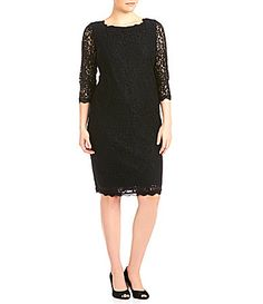 Adrianna Papell Plus Lace Dress #Dillards