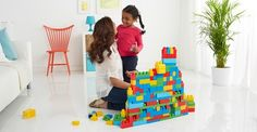 Use Mega Bloks to design a block fort that can ward off monsters!