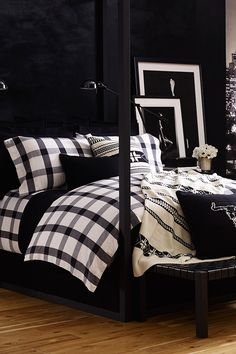 Ralph Lauren's chic black and white bedding will turn your house into a home.