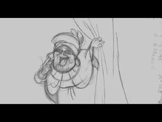 "This is the first tie down of Mama Odie from ""The Princess and the Frog"" by Andreas Deja. This short scene shows why he is my favorite contemporary animator along with Glen Keane. Coming from a design background, he knew how to style the character and make those shapes move in a believable way! The swirl just gets me! In a way, it seems like the character is combining the blocky beauty of a Kahl design and the movement of a Kimball character. Wish she would have been in the film much longer!"