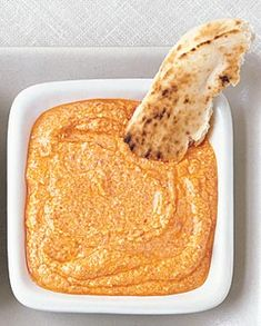 Roasted red pepper feta dip. Doing the roasted peppers yourself (versus a jar) makes a huge flavor difference.