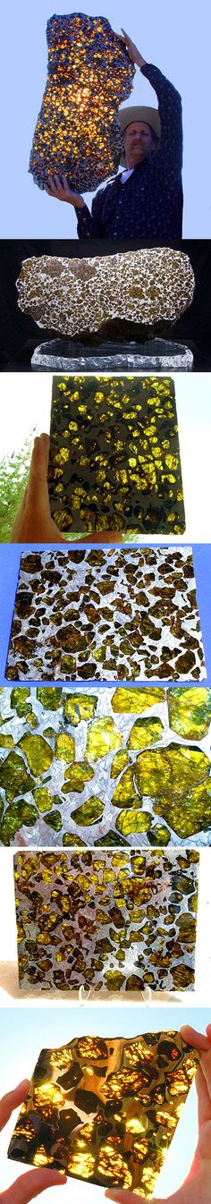 In the year 2000, a 2211 lbs. meteorite was discovered near Fukang, a city in the NW region of Xinjiang, China. Named the 'Fukang meteorite', it was identified is a pallasite, a type of stony–iron meteorite, w/striking olivine crystals throughout