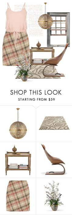 """""""gingham style"""" by mlkdmr ❤ liked on Polyvore featuring AERIN, OKA, Carl Hansen & Sons, Carven and Burke Decor"""