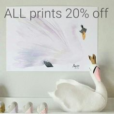 ALL PRINTS & paintings A4 A3 and A2 20% off until Wed 16th Dec.  #charliandebe #print #interiordesign #girlbedroom #bedroominspo #sale #pastel #girls #boys #supportsmallbusiness #australianhandmade #superhero #ballet #swan #animal #birds #bespoke #custom #portrait by charliandebe