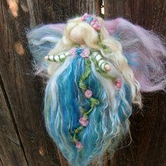 needle felted fairy angel Winter Garden Fairy by Rebecca Varon - Nushkie Design - Waldorf Inspired 2