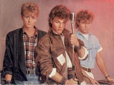 "A-ha - Morten Harket, Magne Furuholmen, Paal Vaaktar Savoy. Look up the song ""Take on Me"".. Oozing with epicness!"