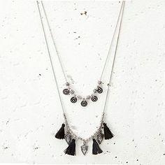 Tasseled Layered Bohemian Necklace por NovaaStyle en Etsy