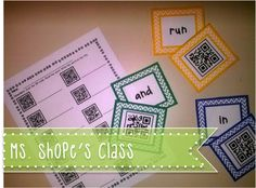 Using QR Codes in Kindergarten