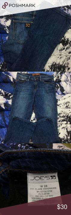 🔥 Joe's High Waisted Flare Visionaire Denim Jeans Joe's High Waist, Flare Visionaire Denim Jeans  ,Please Refer to the Pictures  Size 28  Measurements:   • Waist - 14 (28) in  • Inseam - 28 in  • Rise - 8.5 in  Thank You for checking Out This Item :) , Be sure to add other Items from my Closet to Your Bundle before you Checkout for 10% off your order!  Fishman12 - L90 Cross Joe's Jeans Jeans