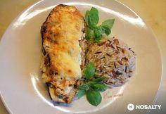 Padlizsán csónak Baked Potato, Potatoes, Baking, Ethnic Recipes, Food, Potato, Bakken, Essen, Meals