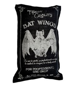 Take a look at this Black Bat Wings Burlap Throw Pillow by Twelve Timbers on #zulily today!