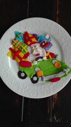 Sinterklaas met hand fondant puzzel