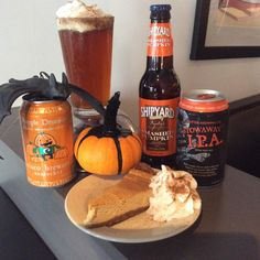 Seasonal Pumpkin Beers at Veggie Galaxy for Fall 2014. All are #vegan except Shipyard. The cheesecake was a delicious Pumpkin Cheesecake that we had during October 2014 and the first week of November. www.veggiegalaxy.com