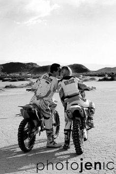 engagement, desert, dirt, bikes, bride, groom, photography, photographer, wedding, orange county, photojenic, photographybyjen.com #dirtbikes #engaged