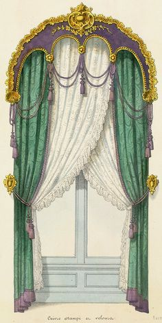 Find images and videos about victorian on We Heart It - the app to get lost in what you love. Elegant Curtains, Beautiful Curtains, Drapes Curtains, Drapery, Peacock Curtains, Window Coverings, Window Treatments, Victorian Curtains, Baroque Decor