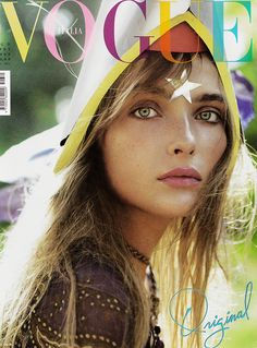 Snejana || Ukrainian model Snejana Onopka for Vogue Italy. I absolutely love this cover!