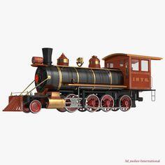 Steam Train Locomotive 3d model http://www.turbosquid.com/3d-models/3dsmax-steam-train-locomotive-2/927496?referral=3d_molier-International