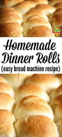 Dinner Rolls Bread Machine, Easy Bread Machine Recipes, Best Bread Machine, Bread Maker Recipes, Dinner Rolls Easy, Sweet Dinner Rolls, Homemade Dinner Rolls, Dinner Rolls Recipe, Bun Dough Recipe