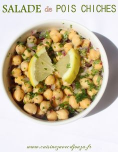 Salade de pois chiches recette libanaise Cold Lunch Recipes, Veggie Recipes, Easy Dinner Recipes, Soup Recipes, Vegetarian Soup, Vegetarian Recipes, Healthy Recipes, Creole Recipes, Lebanese Recipes