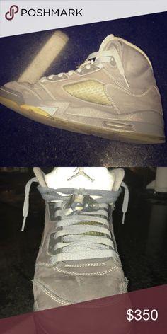 "9ce087c3108c Jordan 5 ""Wolf Grey"" Rare Jordan Hypebeast Shoe and very comfortable only  worn a couple times Jordan Shoes Sneakers"