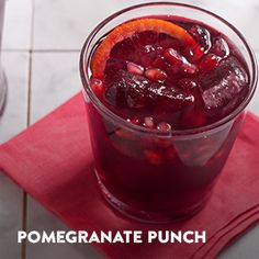 Make the most of summer with this Pomegranate Punch and other