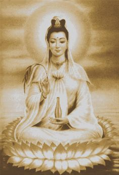 Kuan Yin is a bodhisattva, meaning that she's eligible for Buddhahood. Description from pinterest.com. I searched for this on bing.com/images