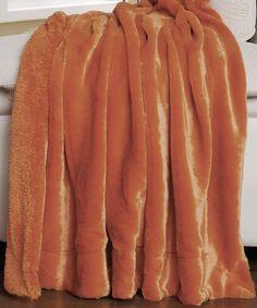 Another great find on #zulily! Burnt Orange Faux Fur Throw #zulilyfinds