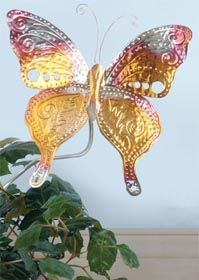 Butterfly Garden Stake by: Jana Ewy  ~~  Create this colorful Butterfly Garden Stake from AMACO for your garden with Wireform. Pattern included.      Read more at http://www.favecrafts.com/Garden-and-Outdoor/Butterfly-Garden-Stake#i2gX8RiQ5kovQ6E6.99for AMACO