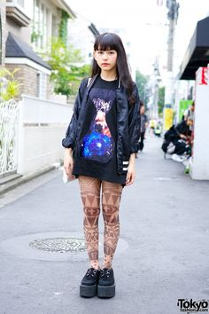 Tattoo Tights and Space Print