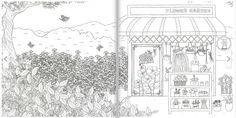Fantasy Store Coloring Book for Adult Anti Stress Art Therapy My Store Decorate | eBay