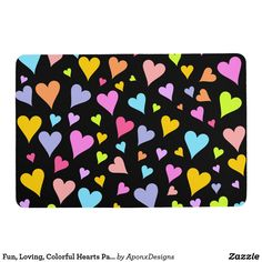 Shop Fun, Loving, Colorful Hearts Pattern Shower Curtain created by AponxDesigns. Personalize it with photos & text or purchase as is! Floor Patterns, Heart Patterns, Photo Tiles, New Heart, Custom Shower Curtains, Love Gifts, Fun Loving, Personalized Gifts, Kids Rugs
