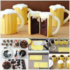 (via How to Make Beer Mug Cupcakes With A Sweet Surprise | UsefulDIY.com)