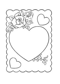 Valentine\'s Day Pictures to Color | 12 Valentines Cards Coloring ...