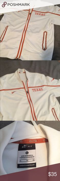 Nike Texas Longhorns Basketball warm up jacket Nike Texas Longhorns basketball warm up track jacket. Near new, no rips, stains or holes. Nike Jackets & Coats Performance Jackets
