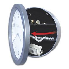 This Cleverly Concealed Clock Safe