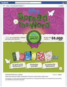 """Acco Brands - Hilroy """"Spread The Word"""" Facebook Contest Page"""