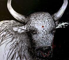 Title : Inyonikayiphumuli - (Tribal Series) Year : 2018 Medium : Oil/Craft paint on canvas Size : 70X60cm