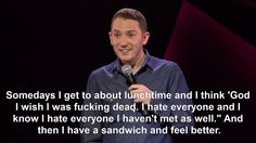 The danger of getting hungry. at least for me and Jon Richardson British Humor, British Comedy, Jon Richardson, Comedian Quotes, Funny Comedians, I Hate Everyone, Verbatim, Cheer Me Up, Comedy Show