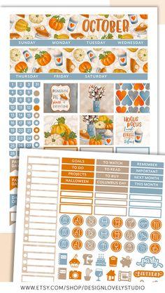Monthly Printable Planner Stickers Kit for Erin Condren Life Planner