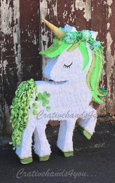 Patrick's Day Unicorn Pinata in 2019 Birthday Pinata, 10th Birthday Parties, Rainbow Birthday, Happy Birthday Wishes, Birthday Ideas, Horse Pinata, Unicorn Pinata, Unicorn Party, 3d Paper Crafts