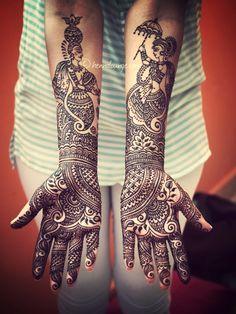 Transient full hand/arm wedding