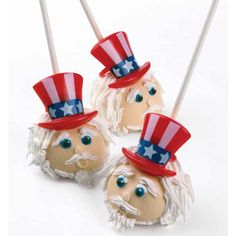 Uncle Sam Cake Pops for 4th of July