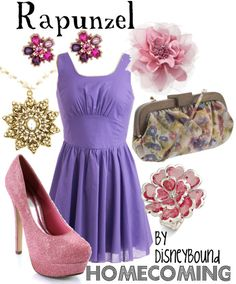 Rapunzel homecoming by disneybound
